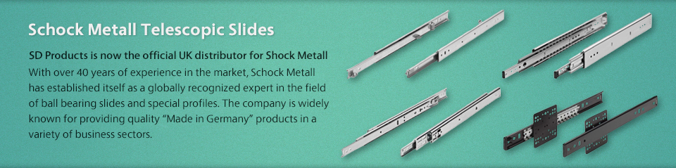 Schock Metall Telescopic Ball Bearing Slides