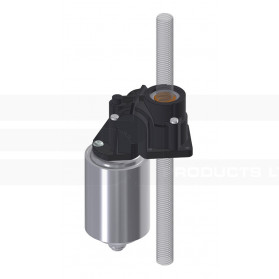 Electric drive for throughgoing spindle
