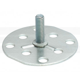 Threaded Stud on 50mm Round Base Plate