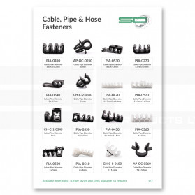 Cable, Pipe and Hose Fasteners Overview