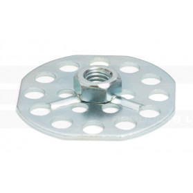 Hexagonal Nut on Octagonal Base Plate - Blind