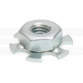 Hexagonal Nut on Perforated Base Plate - Blind