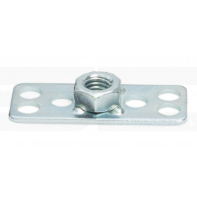 Hexagonal Nut on Rectangular Base Plate - Blind