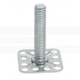 Threaded Stud on Large Square Base Plate